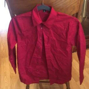 Boys size 8 dress shirt like new long sleeve
